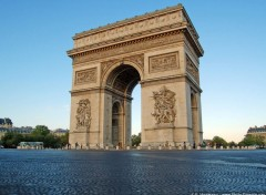 Fonds d'écran Voyages : Europe Arc de Triomphe et place de l'Etoile
