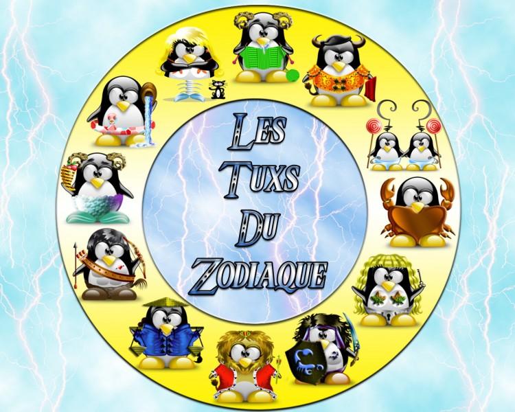 Fonds d'écran Humour Divers les tuxs du zodiaque