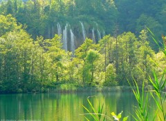 Fonds d'écran Nature Lacs et cascades de Plitvice, Croatie