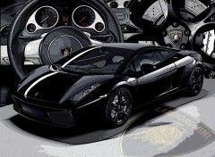 Fonds d'écran Voitures Lamborghini - Gallardo (Nera)