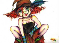 Fonds d'écran Art - Crayon farfadette