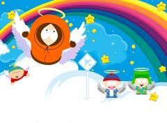 Fonds d'écran Dessins Animés Kenny, Stan, Kyle, Cartman