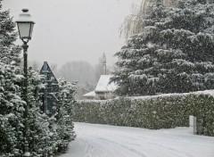 Fonds d'écran Nature CHAPONNAY (Rhône) sous la neige -Décembre 2006