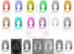 Fonds d'écran Manga akari color