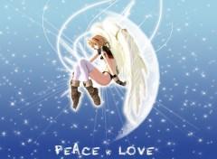 Fonds d'écran Manga Peace & Love