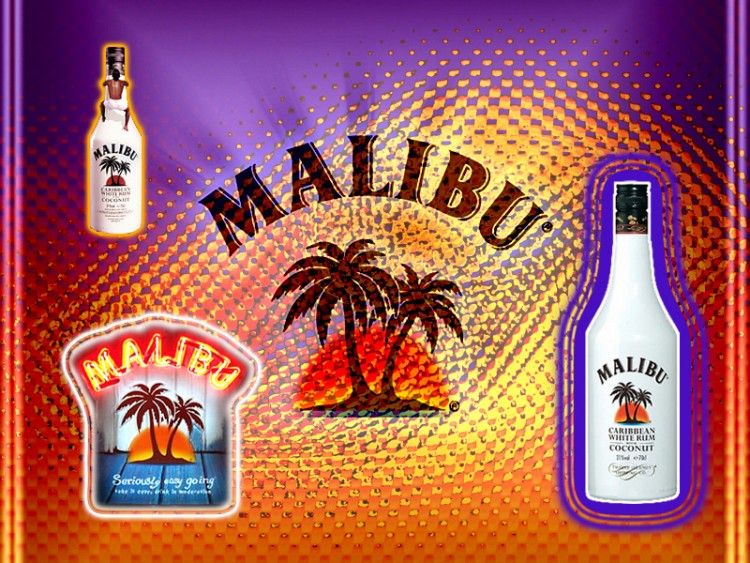 Wallpapers Objects Beverages - Alcohol MALIBU