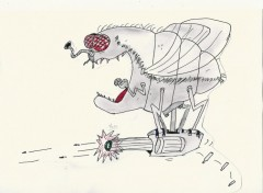 Fonds d'écran Art - Crayon La mouche mutante