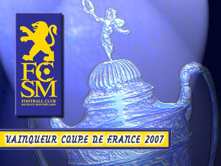 Fonds d'écran Sports - Loisirs Football - FCSM FC SOCHAUX VAINQUEUR COUPE DE FRANCE 2007
