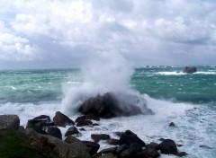 Fonds d'écran Nature Tempête sur la Bretagne