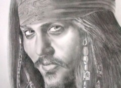 Fonds d'écran Art - Crayon Johnny Depp