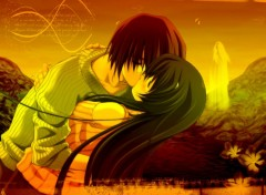 Wallpapers Manga The last kiss...