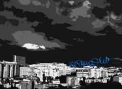 Fonds d'écran Art - Numérique city at night