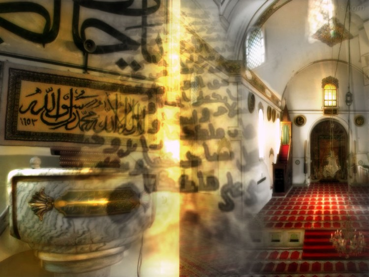 Wallpapers Digital Art Style Islamic mosk in paradis