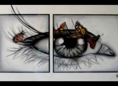 Fonds d'écran Art - Crayon l'oeil