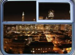 Fonds d'écran Art - Numérique ville de nuit