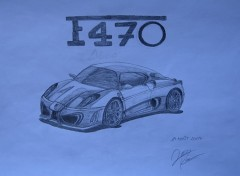 Wallpapers Art - Pencil Remplacante de la Ferrari F430