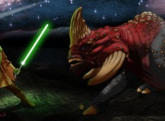 Wallpapers Fantasy and Science Fiction kit fisto vs reek