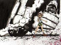 Wallpapers Art - Pencil Statue en Ruine