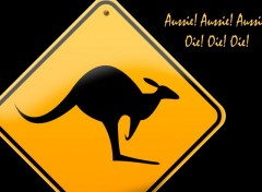 Wallpapers Trips : Oceania Kangaroo Roadsign