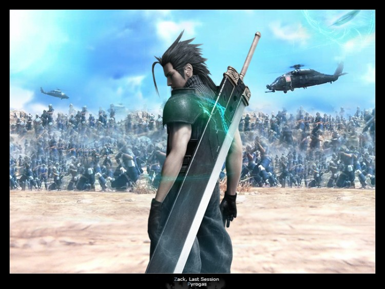 Wallpapers Video Games Final Fantasy VII Zack Last Session