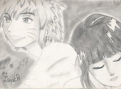 Wallpapers Art - Pencil Naruto et hinata