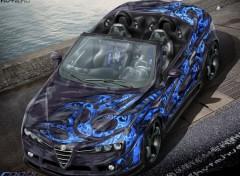 Fonds d'écran Voitures Alfa Romeo Spider Airbrush