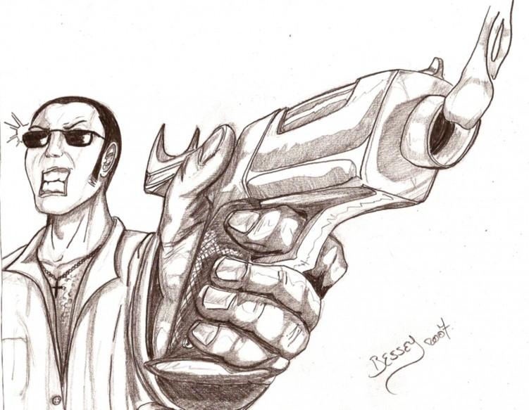 Fonds d'écran Art - Crayon Personnages Gangster