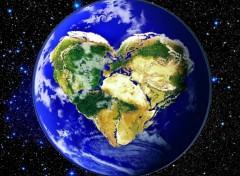 Fonds d'écran Espace globe solidarité