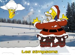 Fonds d'écran Dessins Animés l'Homer noel