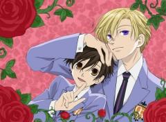 Fonds d'écran Manga tamaki et haruhi