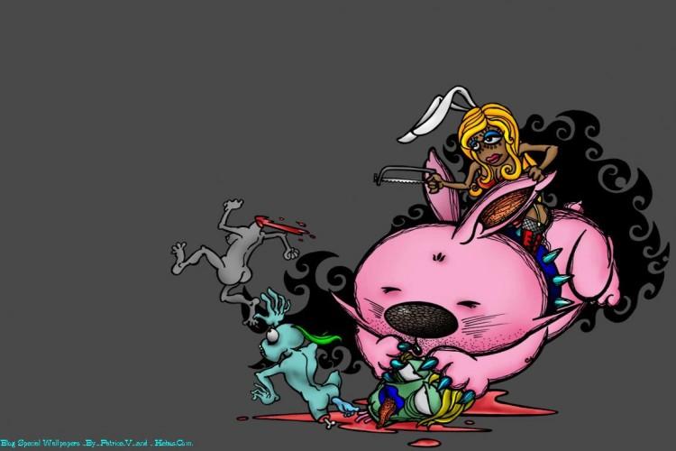 Populaire Fonds d'écran Art - Numérique > Fonds d'écran Dessins animés Pink  QC54