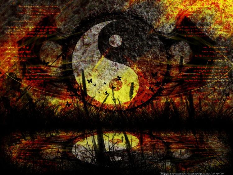 Fonds d'écran Art - Numérique Style Zen Yin-Yang(vs2)...