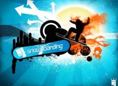 Fonds d'écran Art - Numérique HOT snowboarding
