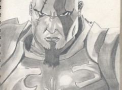 Wallpapers Art - Pencil Kratos .:. God Of War 2