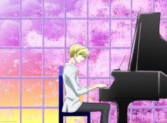 Fonds d'écran Manga piano et sakura