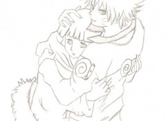 Wallpapers Art - Pencil Naruto & Hinata