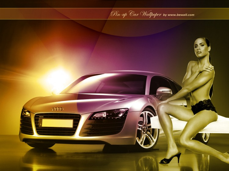Wallpapers Cars Girls and cars Pin-up car 2008 by bewall.com