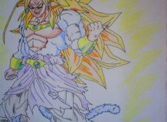 Wallpapers Art - Pencil Broly super sayen 5
