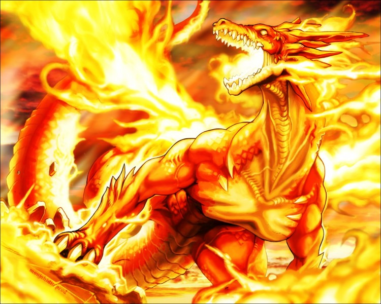 Wallpapers Fantasy and Science Fiction Creatures : Dragons Fire Dragon