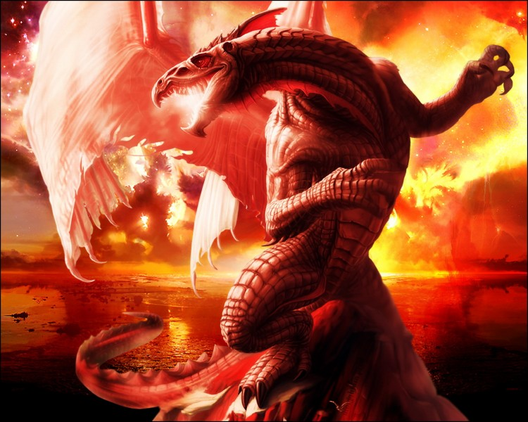 Wallpapers Fantasy and Science Fiction Creatures : Dragons Wallpaper N°203688