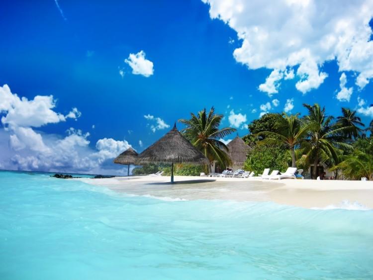 Fonds d'écran Voyages : Océanie Tahiti Plage de sable fin