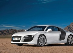 Wallpapers Cars Audi R8 blanche