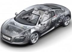Fonds d'écran Voitures Audi R8 vue aux rayons X