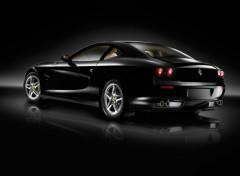 Fonds d'écran Voitures Ferrari 612 noire