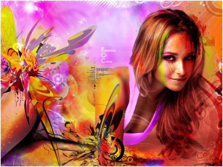 Fonds d'écran Célébrités Femme Hayden Panettiere Explosion Of Colors
