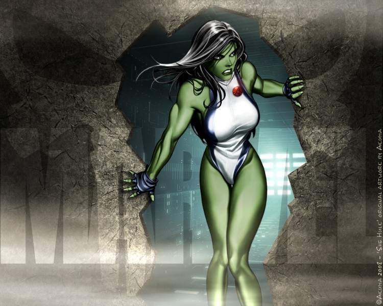 Fonds d'écran Comics et BDs Civil War CIVIL WAR: Miss Hulk in Search & Destroy mode
