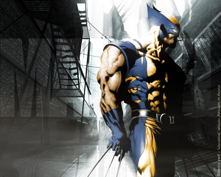Fonds d'écran Comics et BDs Civil War CIVIL WAR: Wolverine ' UrbaN ProoF '