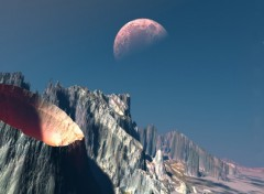 Wallpapers Digital Art terre lune 2