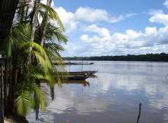 Fonds d'écran Voyages : Amérique du sud pirogues sur le Maroni