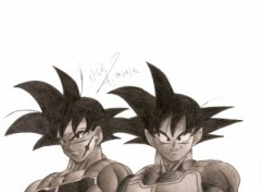 Wallpapers Art - Pencil GOKU PERE ET FILS